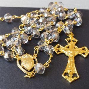 Catholic Rosary With Swarovski Crystal Bea…
